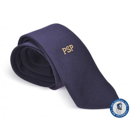 Krawat z haftem PSP